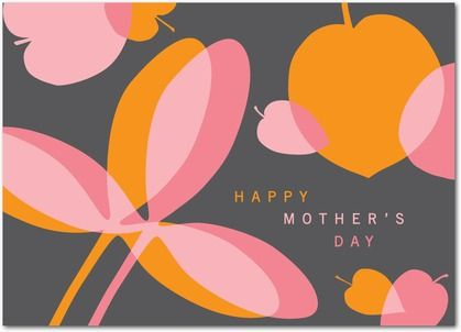 Elegant Botanicals - Mother's Day Greeting Cards - Hello Little One - Charcoal - Gray : Front