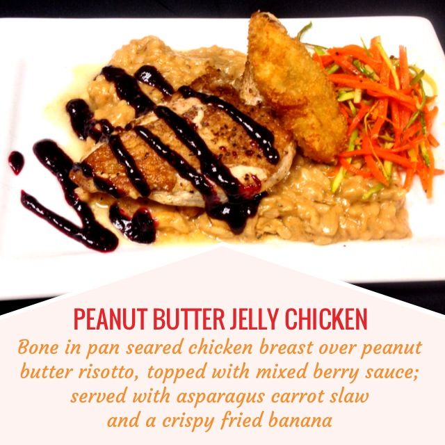 BUTTER JELLY CHICKEN -- Bone in pan seared chicken breast over