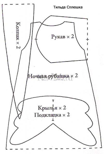 Выкройки сплюшек в натуральную величину