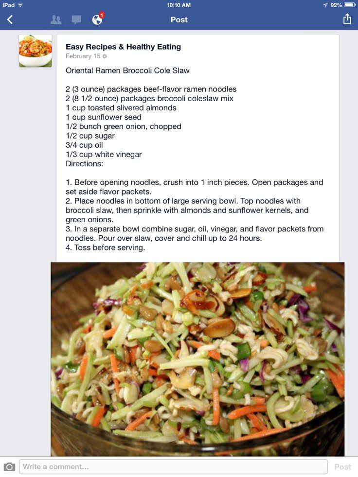recipes flavor ramen Favorite broccoli  Pinterest slaw  noodle Ramen  Recipes