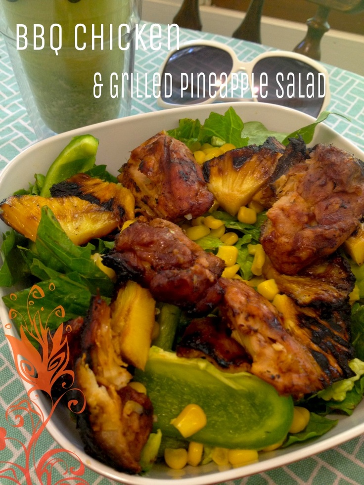 Broiled Chicken Thighs With Pineapple-Cucumber Salad Recipes ...