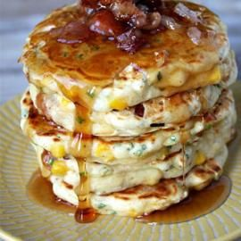 Bacon and Corn Griddle Cakes - Recipes with Bacon that Won't Ruin ...