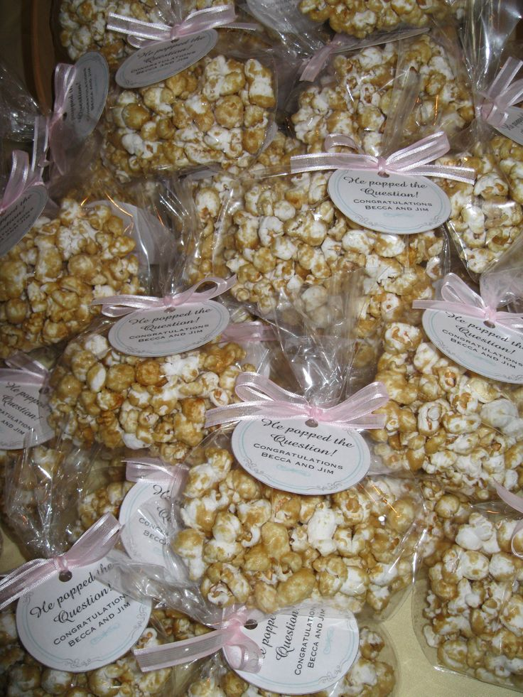 Popcorn Wedding Favor Sayings