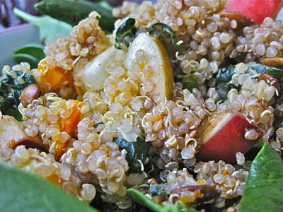 Apple and kale quinoa salad | Salads | Pinterest