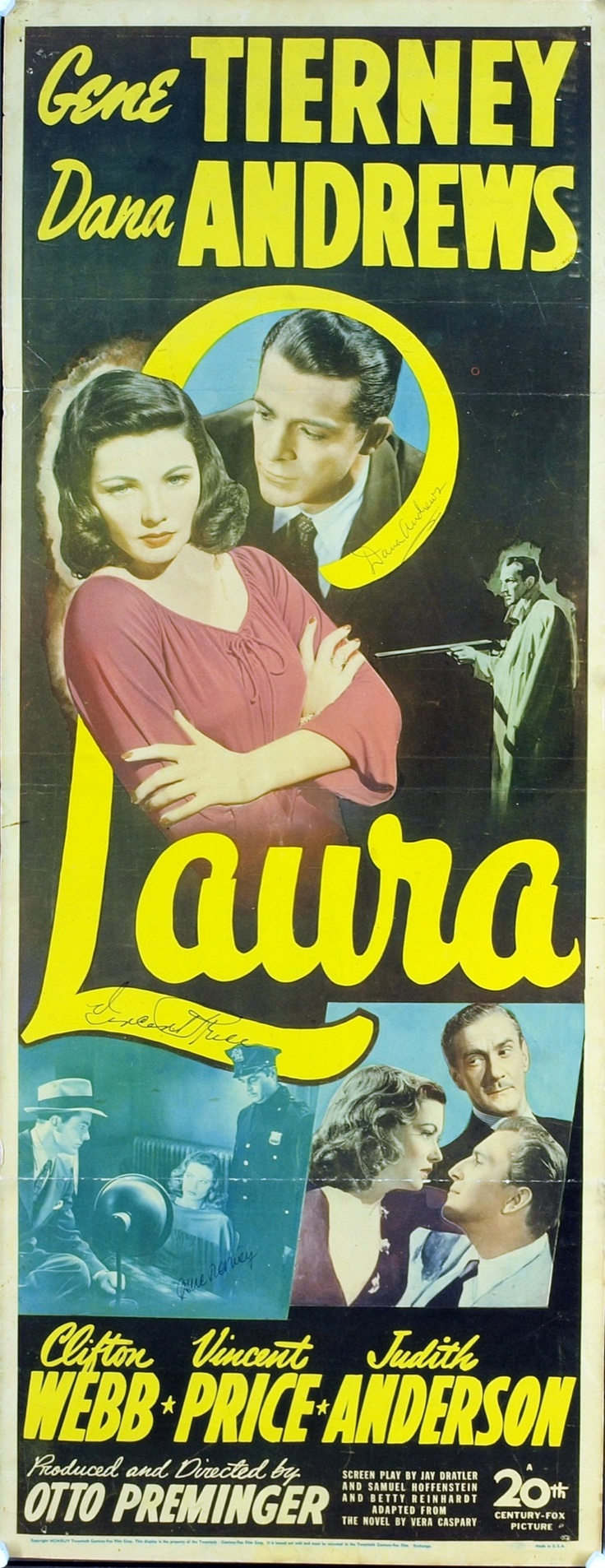 Laura, directed by Otto Preminger, 1944