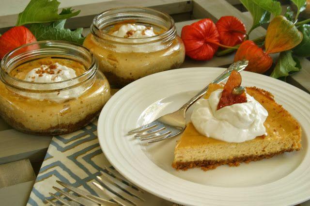 Pumpkin Cheesecake with Triple Ginger Crust