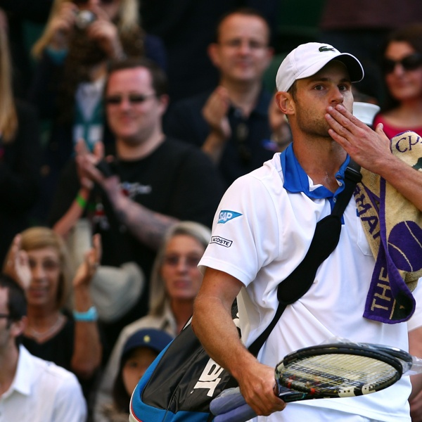 The Championships - Wimbledon 2012: Andy Roddick waves to the crowd after being ousted.