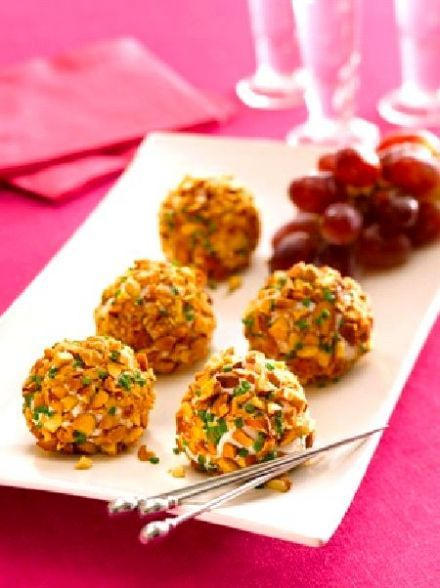 Almond crusted chevre and grape truffles | Tailgating Sparks | Pinter ...