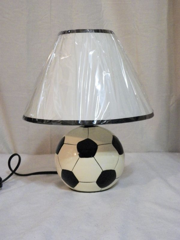 new childrens soccer ball table lamp shade kids bedroom playroom sp
