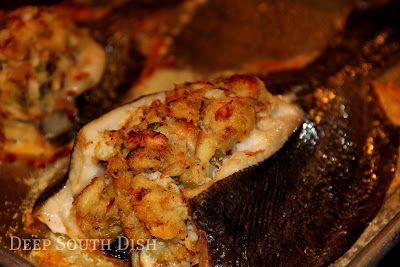 ... Flounder(stuffed with a seafood stuffing mix of shrimp and crab