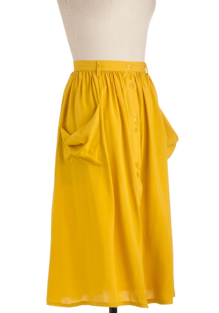 Just Dandy Skirt in Goldenrod | Mod Retro Vintage Skirts | ModCloth.com