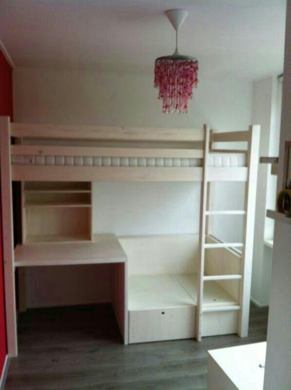 Ideeen Kinderkamer Hoogslaper : Hoogslaper all in bed bureau kast ...
