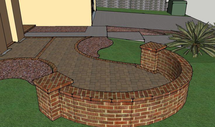 A Small Front Courtyard 3d Landscape Designs Pinterest