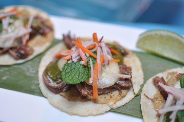Tacos de Carnitas de Borrego @ Rosa Mexicano - Roasted American lamb ...