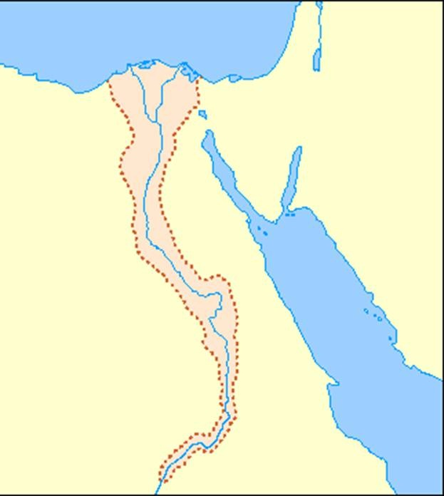 Blank Map Of Ancient Egypt - Unlabeled map of egypt