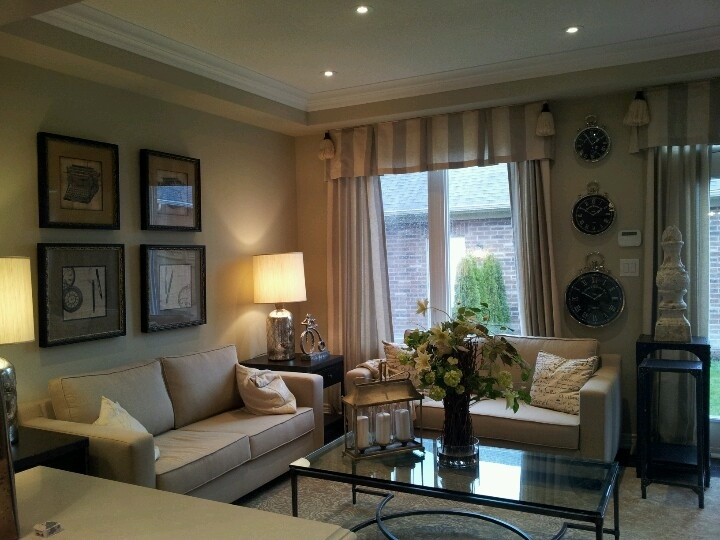 Toronto model home cozy living room decor living room Model home family room pictures
