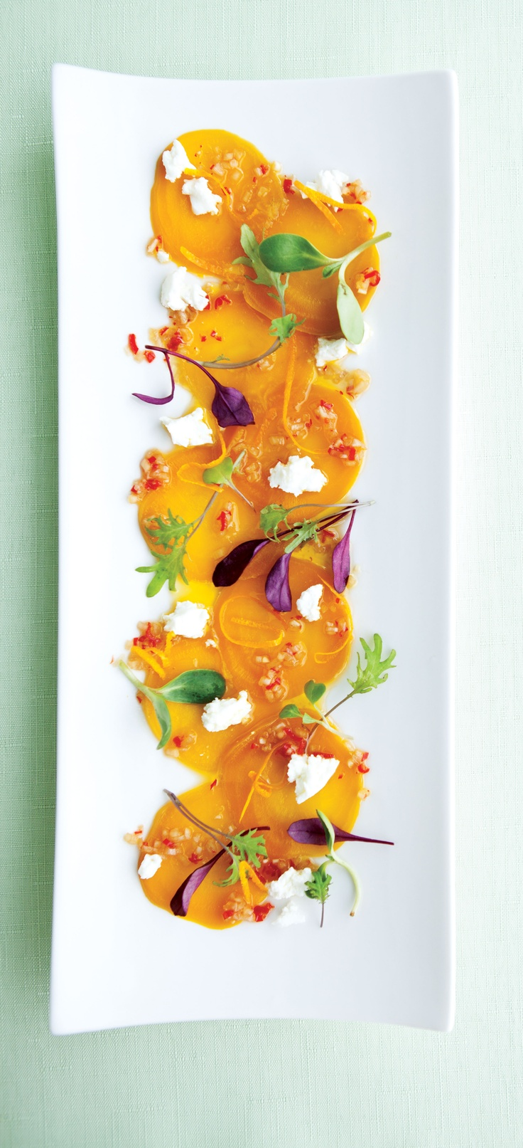 Fall veggies are vibrantly featured with this yellow beet salad ...