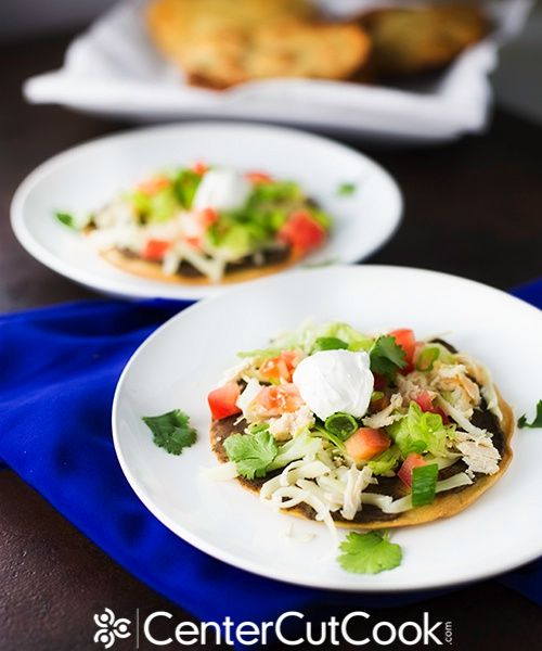 Mexican Tostada with Black Bean Spread | Recipe