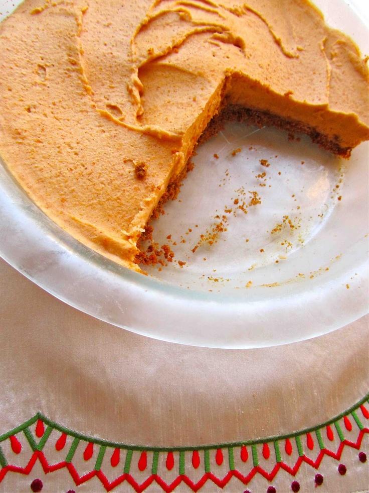 Frozen Pumpkin Mousse Pie Recipe — Dishmaps