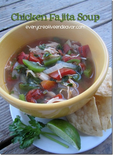 chicken fajita soup | Food | Pinterest