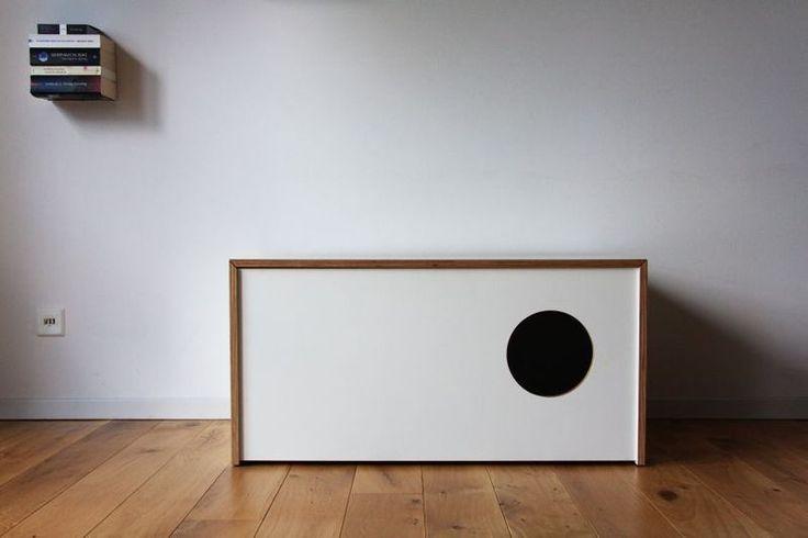 business katzentoilette in truhe von thelui. Black Bedroom Furniture Sets. Home Design Ideas