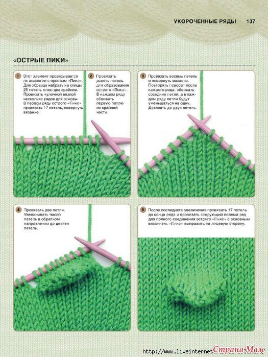 Как повернуть вязание спицами 57