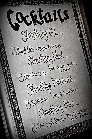 cute drink menu idea.