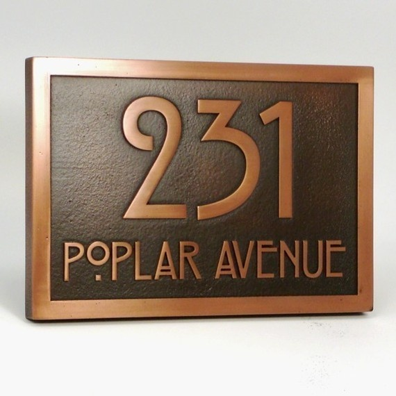 Stickley Address Plaque Home Numbers Bungalow Sign With