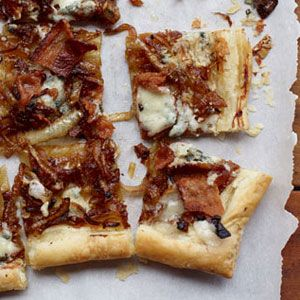 Caramelized Onion, Bacon & Blue Cheese Tart — so many good things on ...