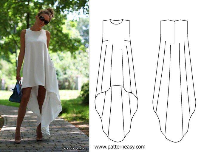 Платье с разной длинной сшить