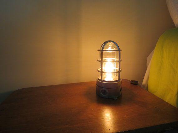 industrial desk or night stand lamp. Black Bedroom Furniture Sets. Home Design Ideas