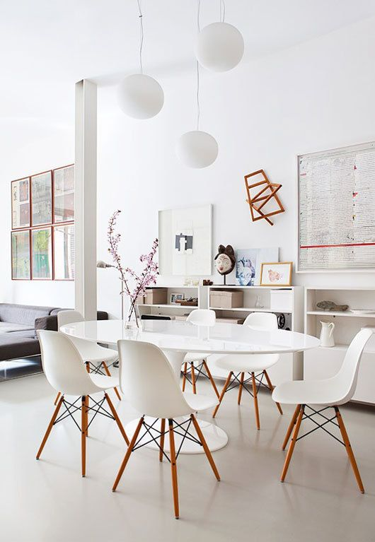 """White dining room"" in Interior design via designinspiration.net"