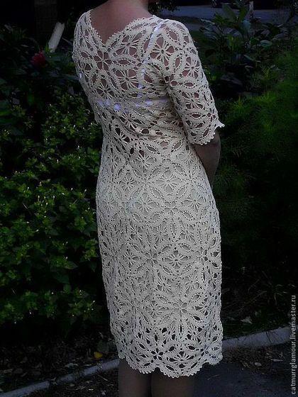 Платье макси вязанное