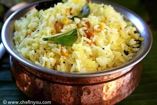 Green Mango Rice (Mamidikaya Pulihora/Mavinakayi Chitranna) - + other ...