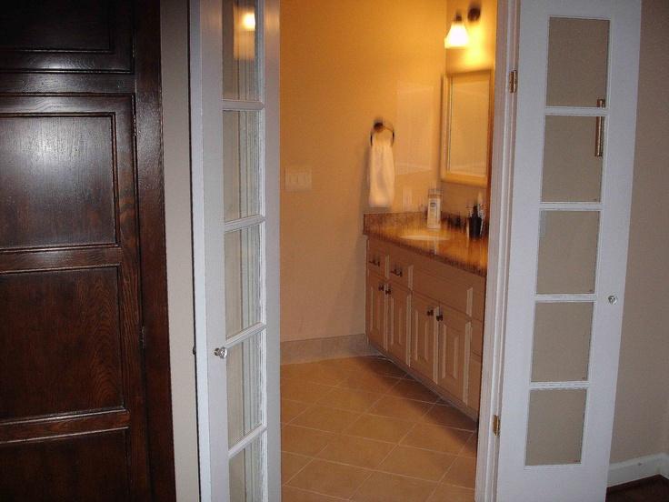 French Door Bathroom Entrance Barn Doors Pinterest