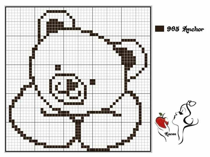 Схема вышивки лапы медведя 2