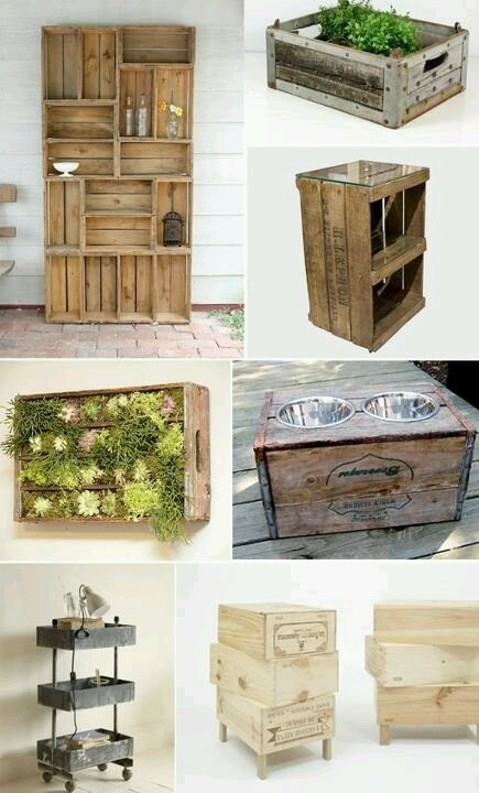 Wine crates craft ideas pinterest What to do with wine crates