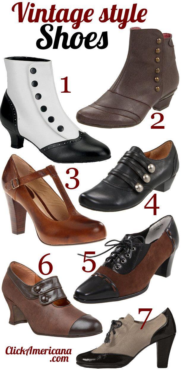 vintage amp retrostyle shoes period dress pinterest