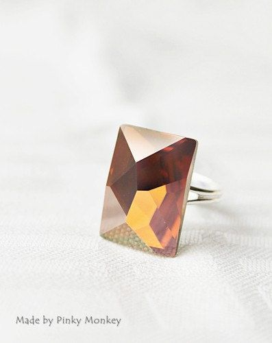 Exquisite Copper Swarovski Crystal Adjustable by MakiYDesign, $38.00