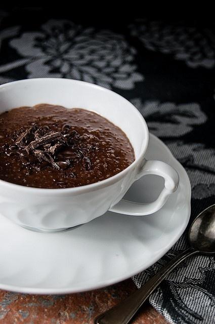 Chocolate Rum Quinoa Pudding   Healthy recipies   Pinterest