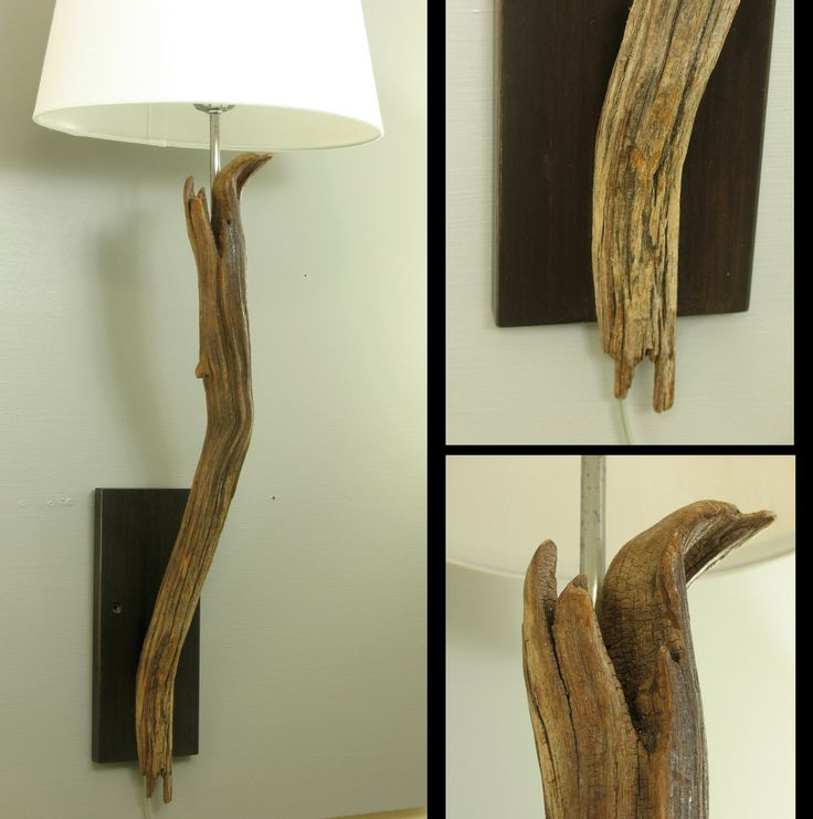 Wall Sconces Driftwood : Gorgeous sculpted driftwood wall sconce, wall-mounted modern rustic l?