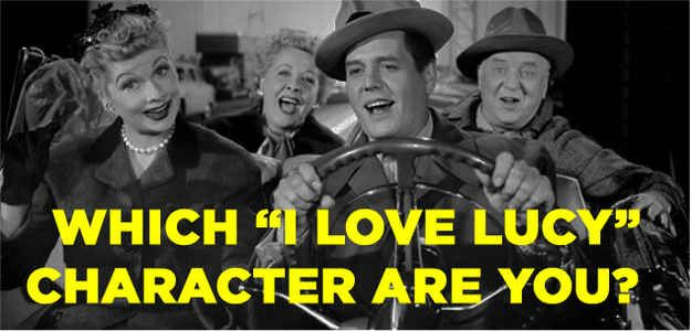 which i love lucy character are you