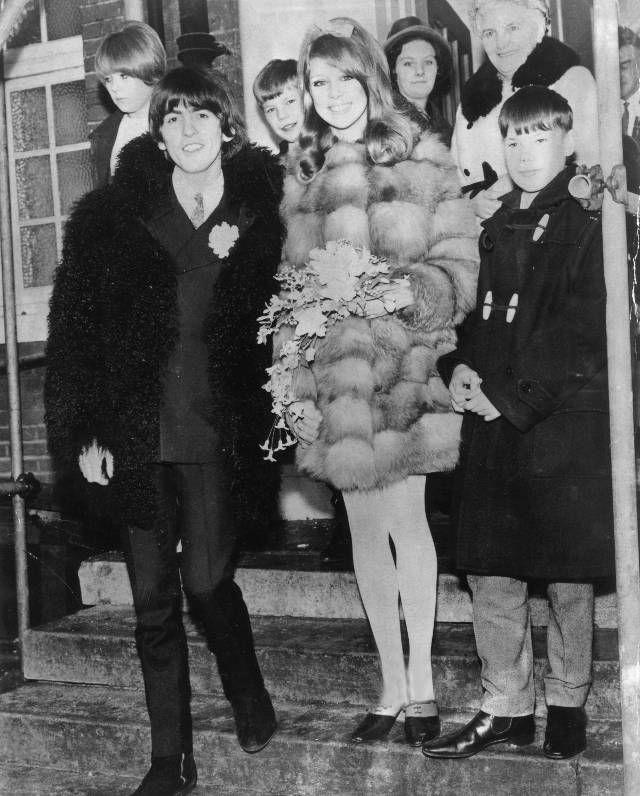 George Harrison and Pattie BoydGeorge Harrison And Pattie Boyd Wedding