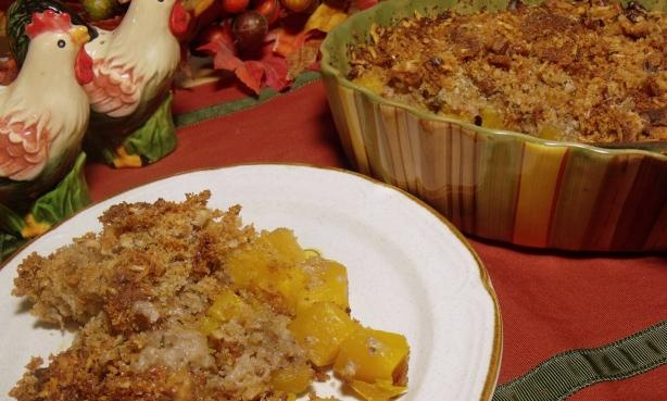 Baked Butternut Squash and Parmesan Cheese Gratin- toss squash with ...