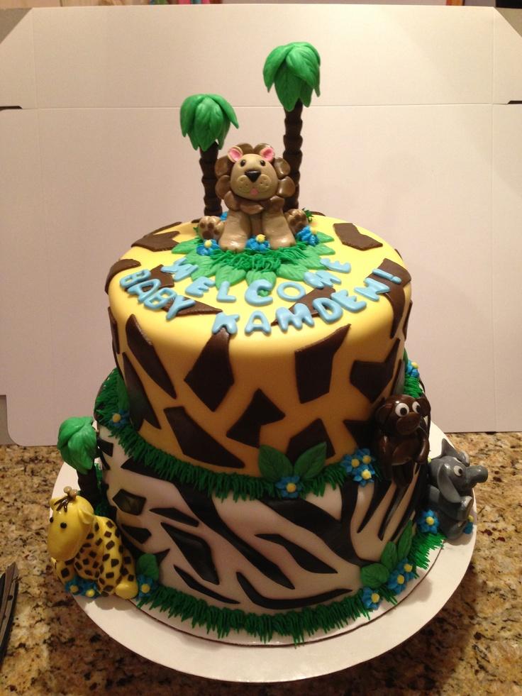 zoo animal baby shower cake dee va cakes pinterest