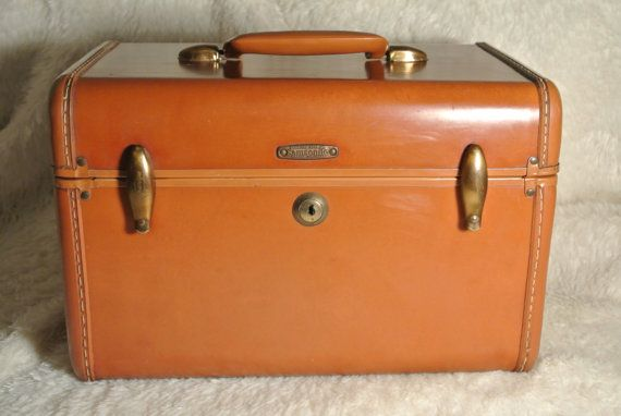 Pin Vintage Samsonite Fashionaire Tapestry Luggage Case By ...