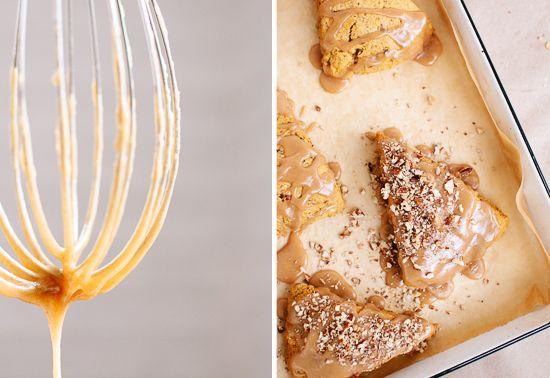 Pumpkin Pecan Scones with Maple Glaze | Recipe