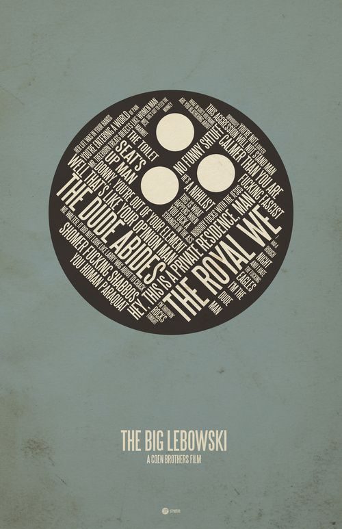 37 posters - movie posters: pulp fiction, the big lebowski, fear and loathing in las vegas, etc...