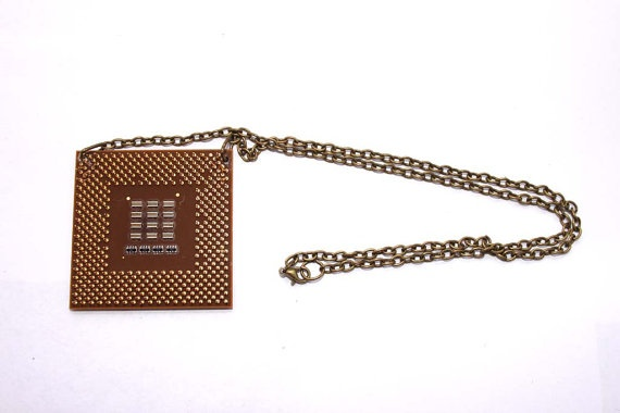 Geek Chic CPU Necklace by FreakStylerDesigns on Etsy, £8.00