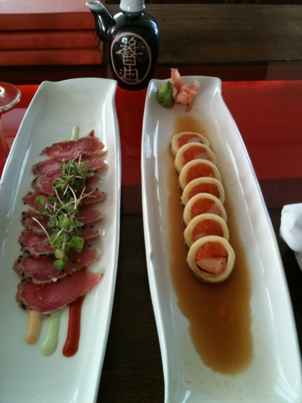 Seared Tuna and Sashimi roll | Food and Drink | Pinterest